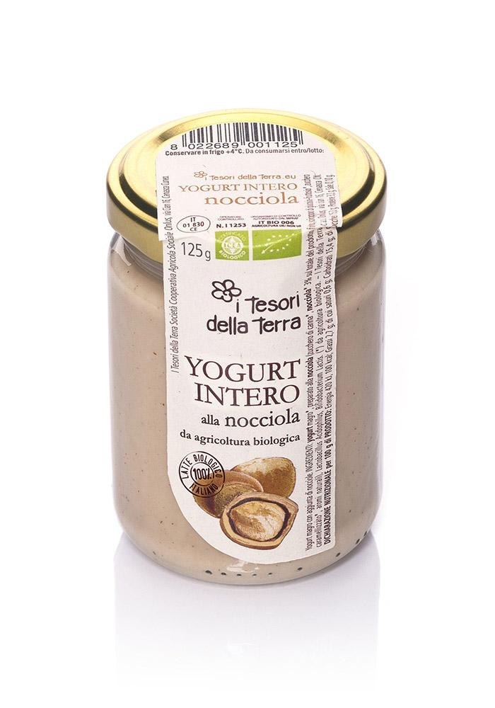 I Tesori della Terra Yogurt intero nocciola 125g copia