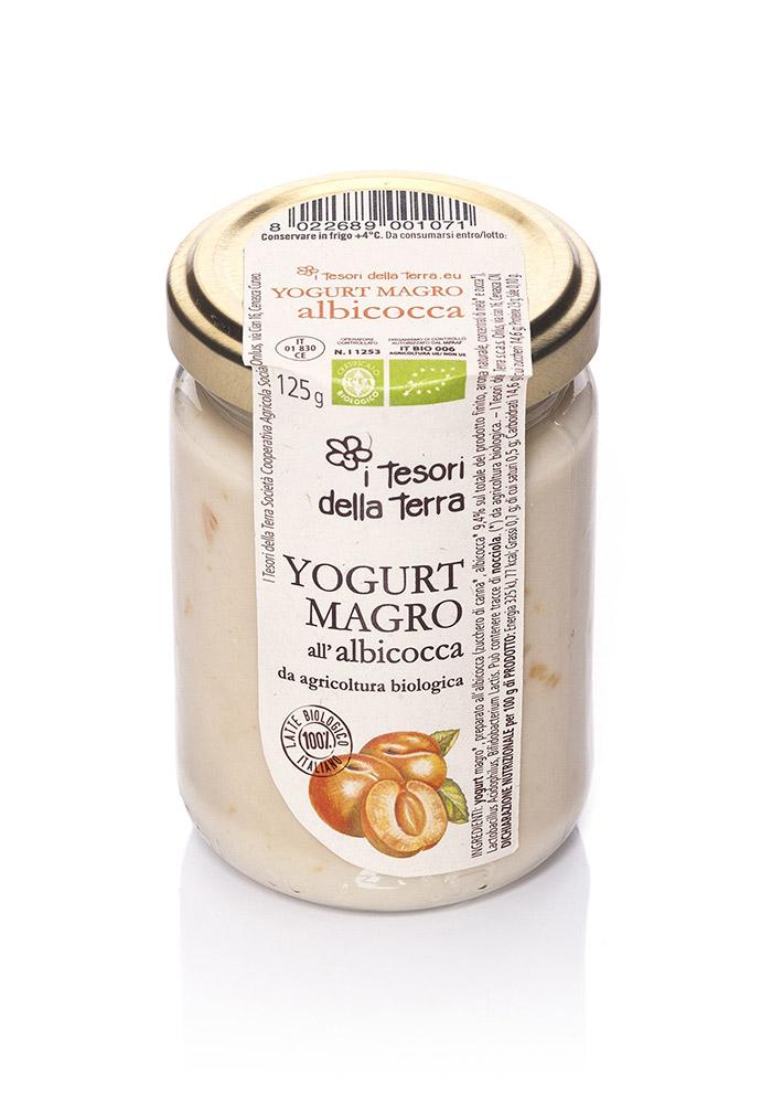 I Tesori della Terra Yogurt magro albicocca 125g copia