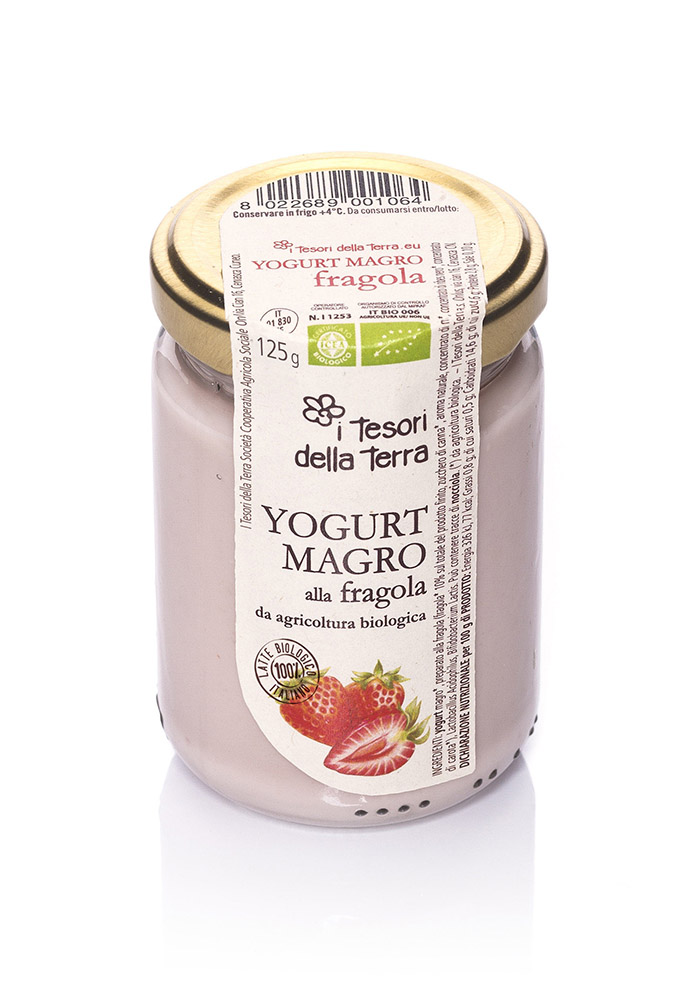 I Tesori della Terra Yogurt magro fragola 125g copia