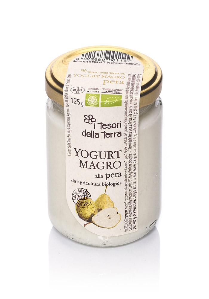 I Tesori della Terra Yogurt magro pera 125g copia