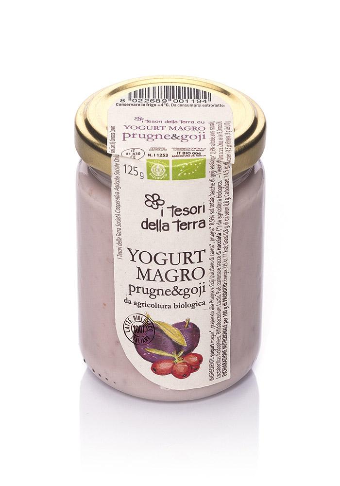 I Tesori della Terra Yogurt magro prugne e goji 125g copia